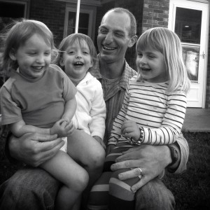Father and three girls